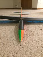 Name: Speedo Slope Nose.jpg Views: 6 Size: 331.4 KB Description: Notice the lack of the spinning thingy on the front. Also, there is no where near the same amount of room in the fuselage compared to the electric version. Trust me, stuff is tight in there!