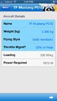 EASpec screenshot - Top Flite P-51D Mustang - aircraft details menu.png