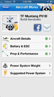 EASpec screenshot - Top Flite P-51D Mustang - front menu.png