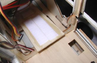 I added a block of balsa to the former to give more gluing area.