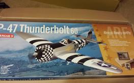 Hangar 9 P47 Thunderbolt NIB with Saito100