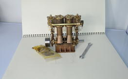 Twin-Cylinder-Steam-Enginen for boat
