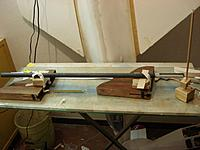 Name: DSC01307 (Medium).JPG Views: 41 Size: 143.9 KB Description: I Put some spacer under the boom so as to the centeline of the boom will be parallel to the building board.