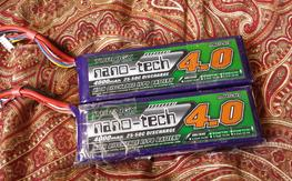Nano-Tech 4000 4s 25-50C x 2 used