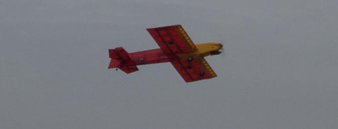 The Harrier 46 in flight.