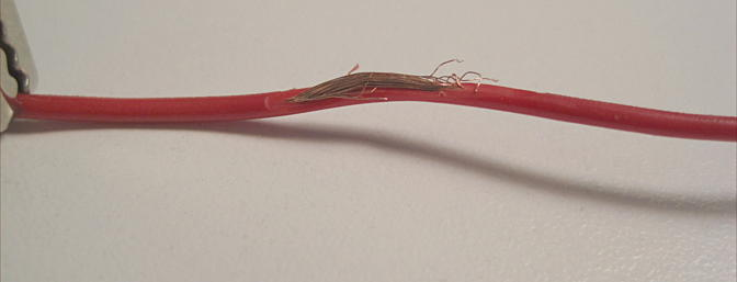 A damaged wire like this will definitely cause issues with your radio system. Repair it properly to avoid more issues down the road.