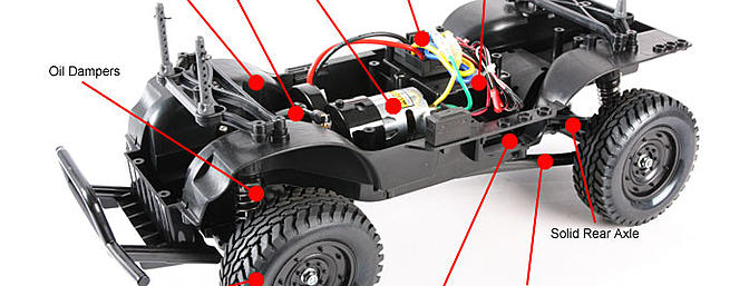 Tamiya CC01 standard chassis.