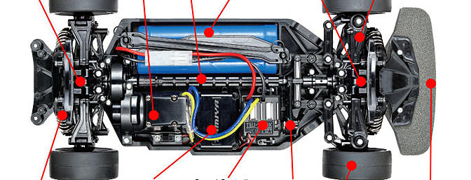 Tamiya TT02 standard chassis.