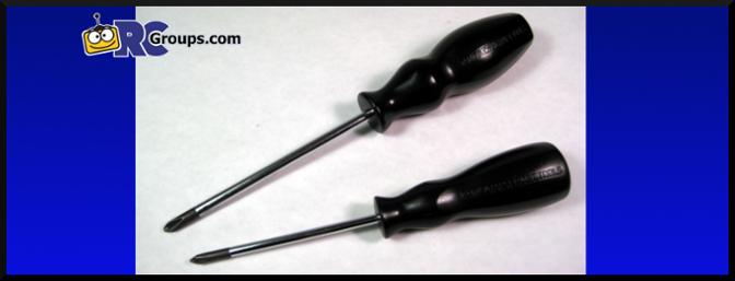 Tamiya Philips Screwdrivers (item nos. 74006 and 74007).