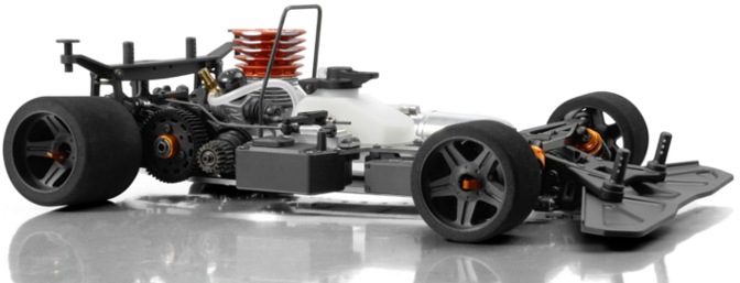 XRAY RX8, chassis side.