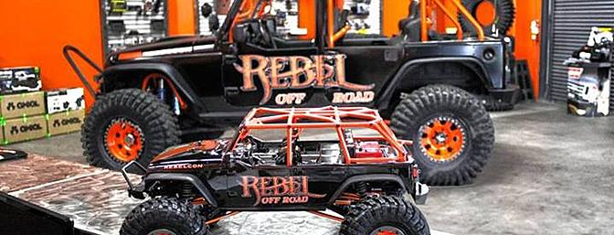 Check out the new Axial 2.2 Maxxis Trepadors on Rebel Off Road's replica SCX10 Jeep Wrangler Unlimited.