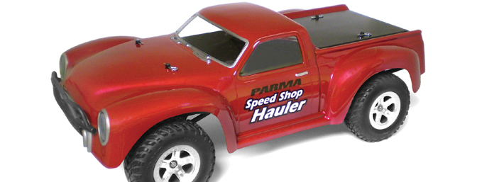 The Parma Speed Shop Hauler body for 1/10-scale short course trucks.