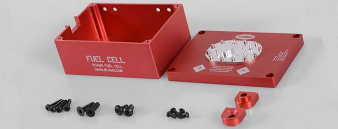 The Billet Aluminum Fuel Cell comes with everything you see here for no-fuss installation.