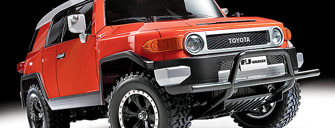 Tamiya Toyota FJ Cruiser with CC-01 chassis (item no. 58588).