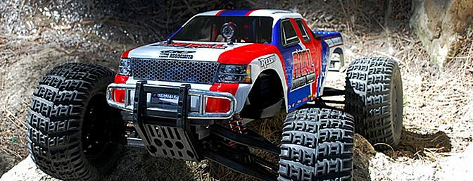 Here is the XD 1080 Mini mounted up inside of a Team Associated Rival monster truck.