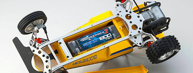 Battery access through the underside of the chassis and should accommodate most of the current packs used today.