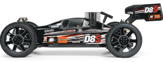 HPI/Hot Bodies D8S RTR 1/8-scale 4WD nitro off-road race buggy (item no. HPID0918).