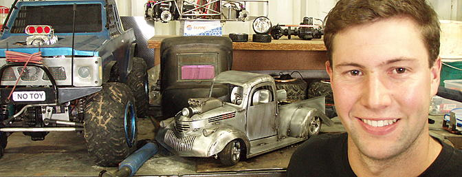 Byron Townsend, the man behind the scratch-built 1941 Chevy Pickup Pro Street truck.