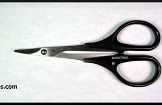 Duratrax curved tip body scissors (item no. DTXR1150).