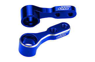 JConcepts offers the aluminum steering bell-cranks in blue...