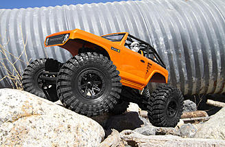 The Axial AX10 Deadbolt looks right at home taking on the rocks.