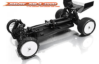 The revolutionary and unique chassis design of the XB4 2WD features XRAY Multi-Flex technology.