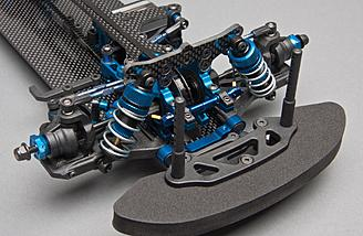 Factory Team VCS3 shocks feature hard-anodized threaded bodies with bottom-loaded seals.