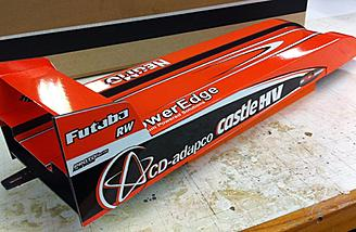 "This is the vehicle that broke the record and is the current worlds fastest battery-powered RC car, the ""R/C Bullet""."