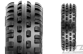 The Wedge Squared is a super narrow, low-profile front tire for 2WD buggies.
