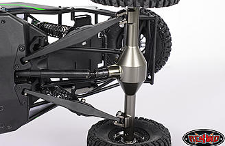 The RC4WD axle case looks just like the stock unit.