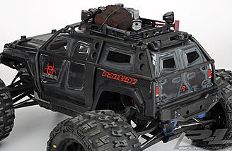 Adding a roof rack with scale accessories helps complete the look.