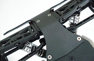 Racer2 Chassis Brace bolts directly onto the underside of the chassis.