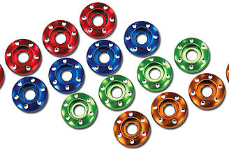 LaTrax Aluminum Wheel Nut Washers (#7668).