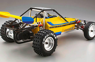 New block pattern tires combine with one-piece rear wheels and include foam inserts.
