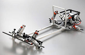 The ladder frame is constructed from lightweight yet extremely solid 6061 T6 aluminum.