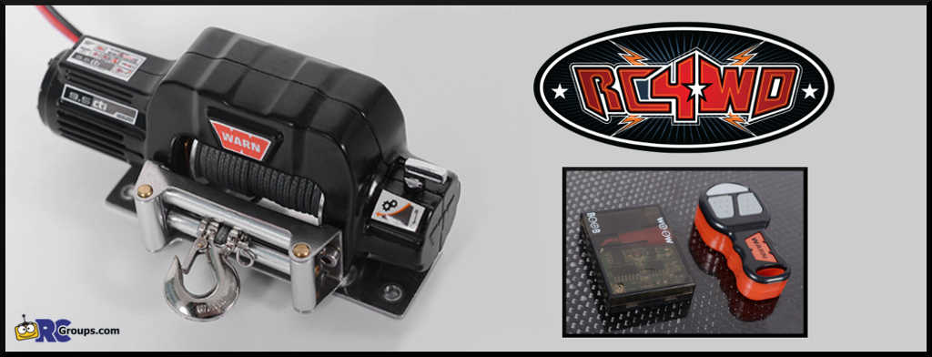 RC4WD Officially Licensed WARN Winch and Controllers