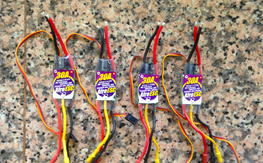 4x Afro 30A ESC with latest firmware