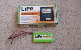 Life 3200mah 6.6V RX Battery Plus Charger