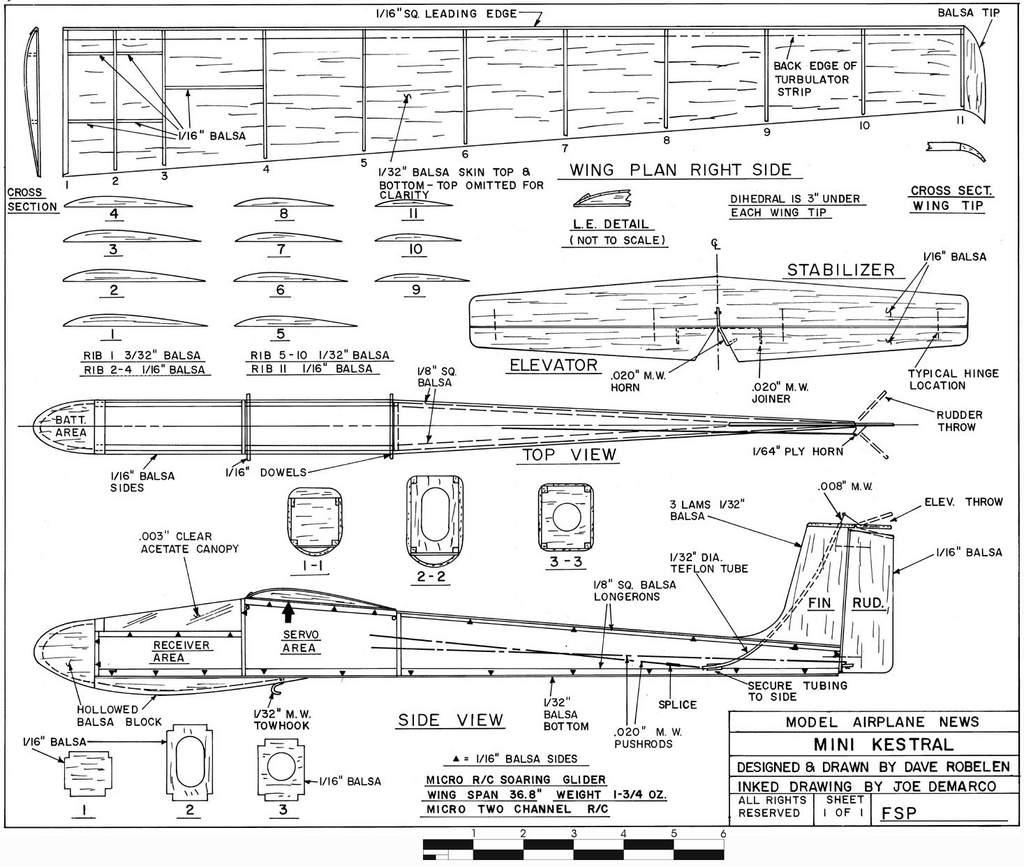 Woodwork Rc Glider Plans PDF
