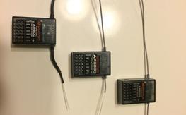 Three Spektrum AR600 6-channel DSMX receivers