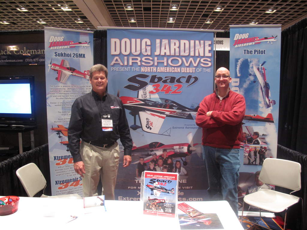 Doug Jardine and me in Doug's booth at the International Council of Airshows trade show