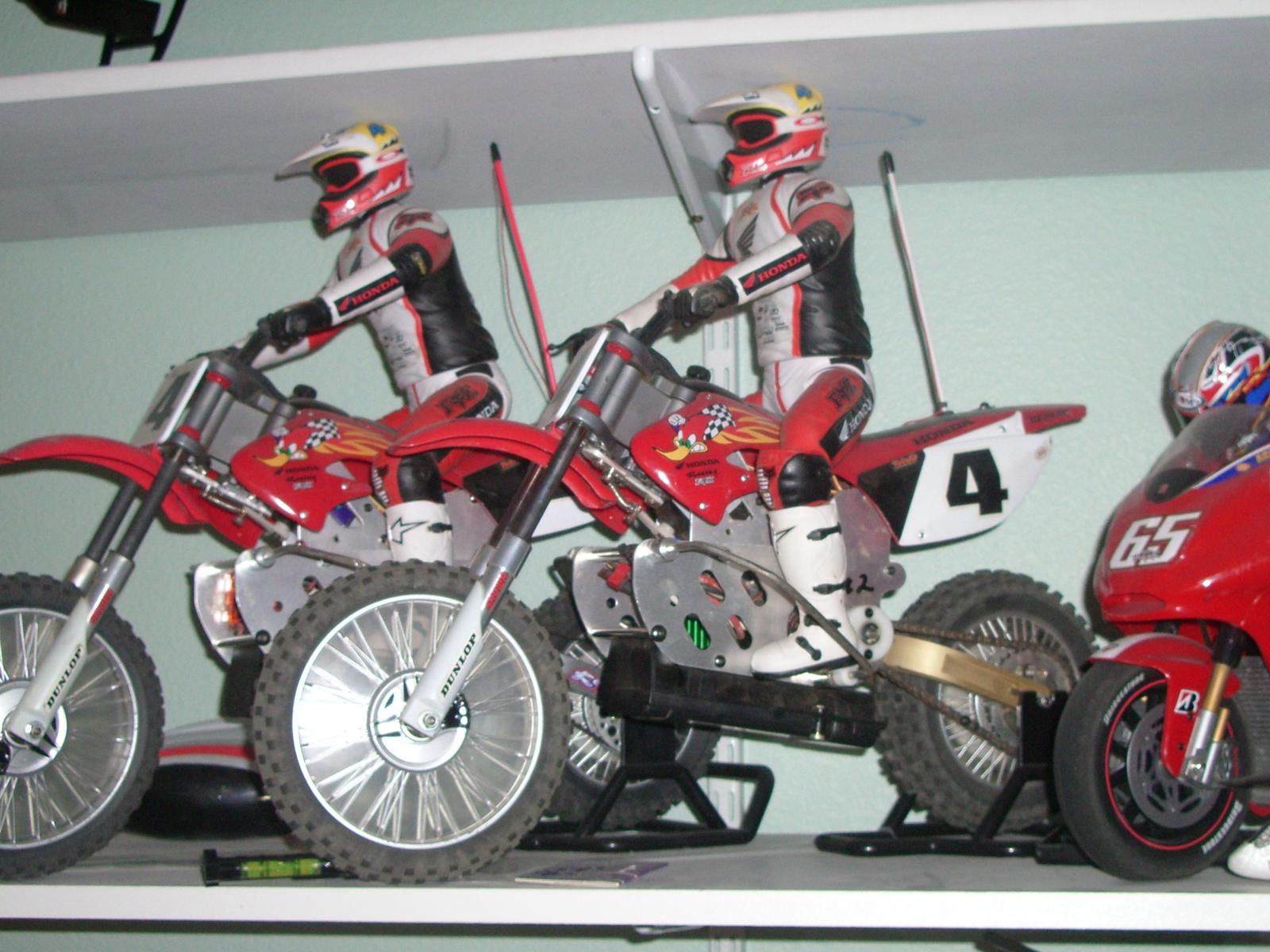 The one in the front is the brushless