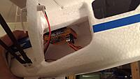 Name: P_20141027_184954.jpg Views: 7 Size: 434.8 KB Description: And the gyro is mounted here in the roof of the cabin, quite close to wing and CG. I push battery as far in the nose as I possibly can so actually there's room quire nicely...