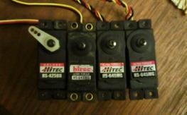 3 Hitec 645 used servos