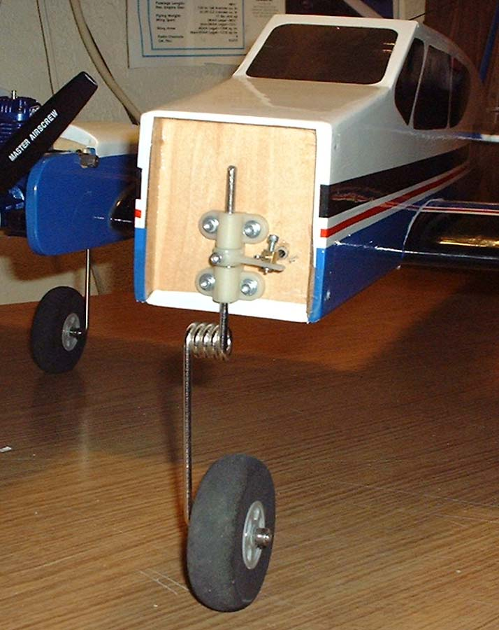 The nose gear wire required modification twice.