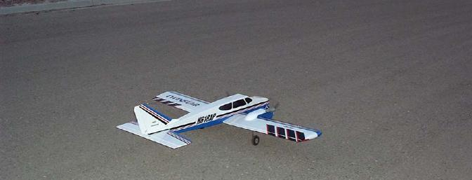 The Twinstar lined up for a takeoff.