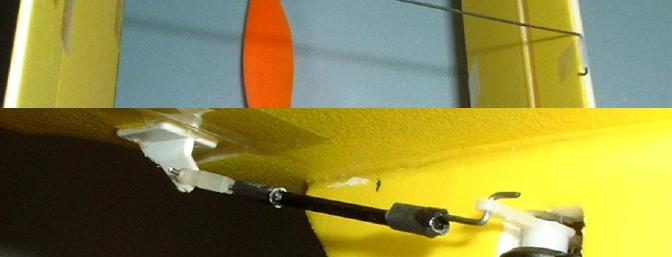 Since the aileron servo arm could not be removed, I used