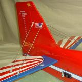 The included tail strut system stiffened the vertical and horizontal stabilizers quite effectively.