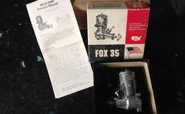1970's Fox 35 Stunt/CL Engine, Excellent Cond.