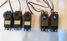 Futaba Servos, (3) S148's, (2) S3003's